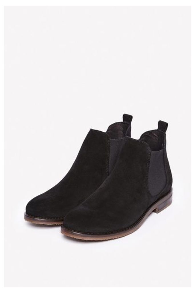 SHARNBROOK SUEDE CHELSEA BOOTS BLACK