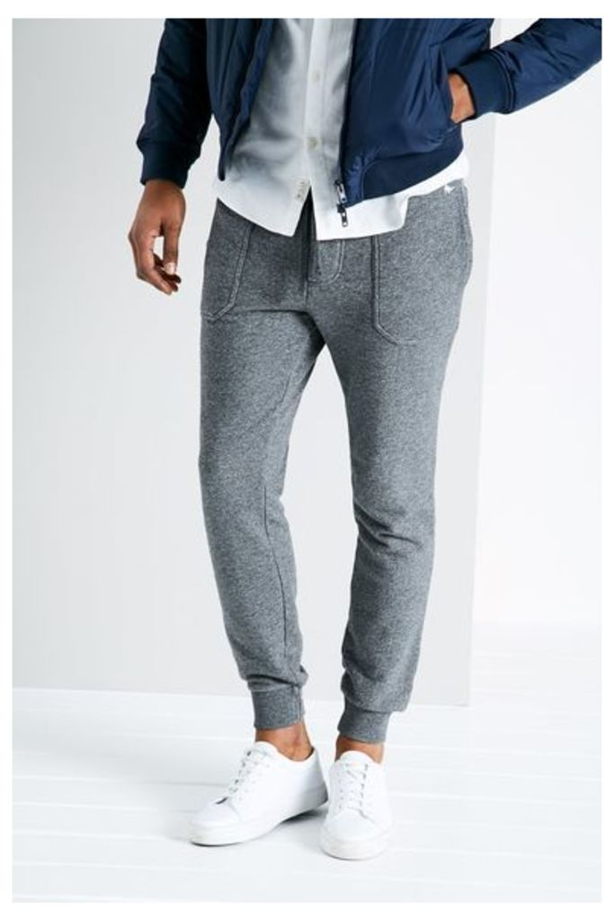 BARNABY TAPERED JOGGERS CHARC MARL