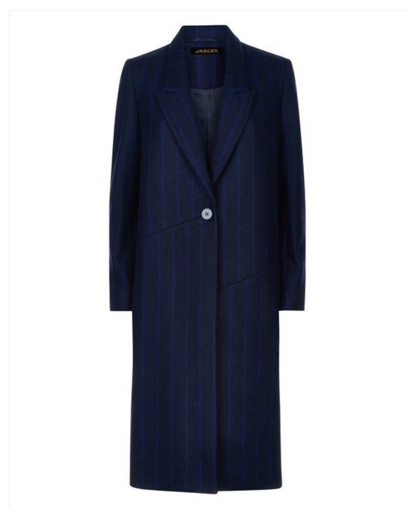 Pinstripe Boyfriend Coat