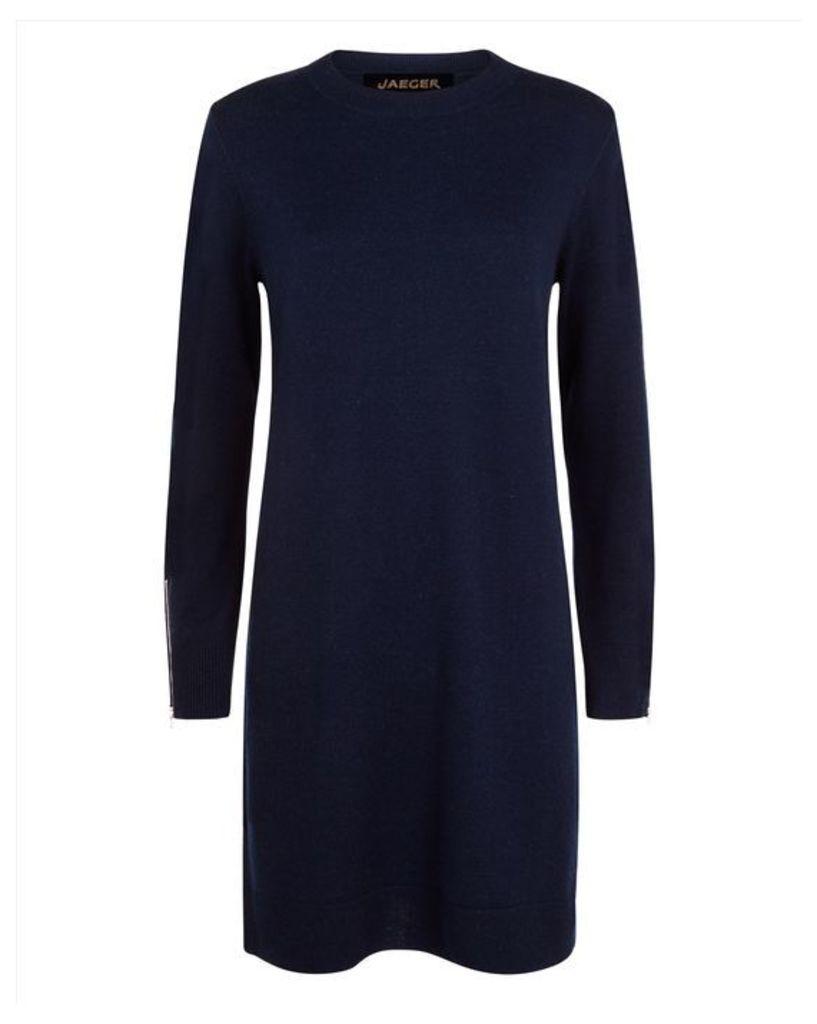 Wool Cashmere Zip-Cuff Dress