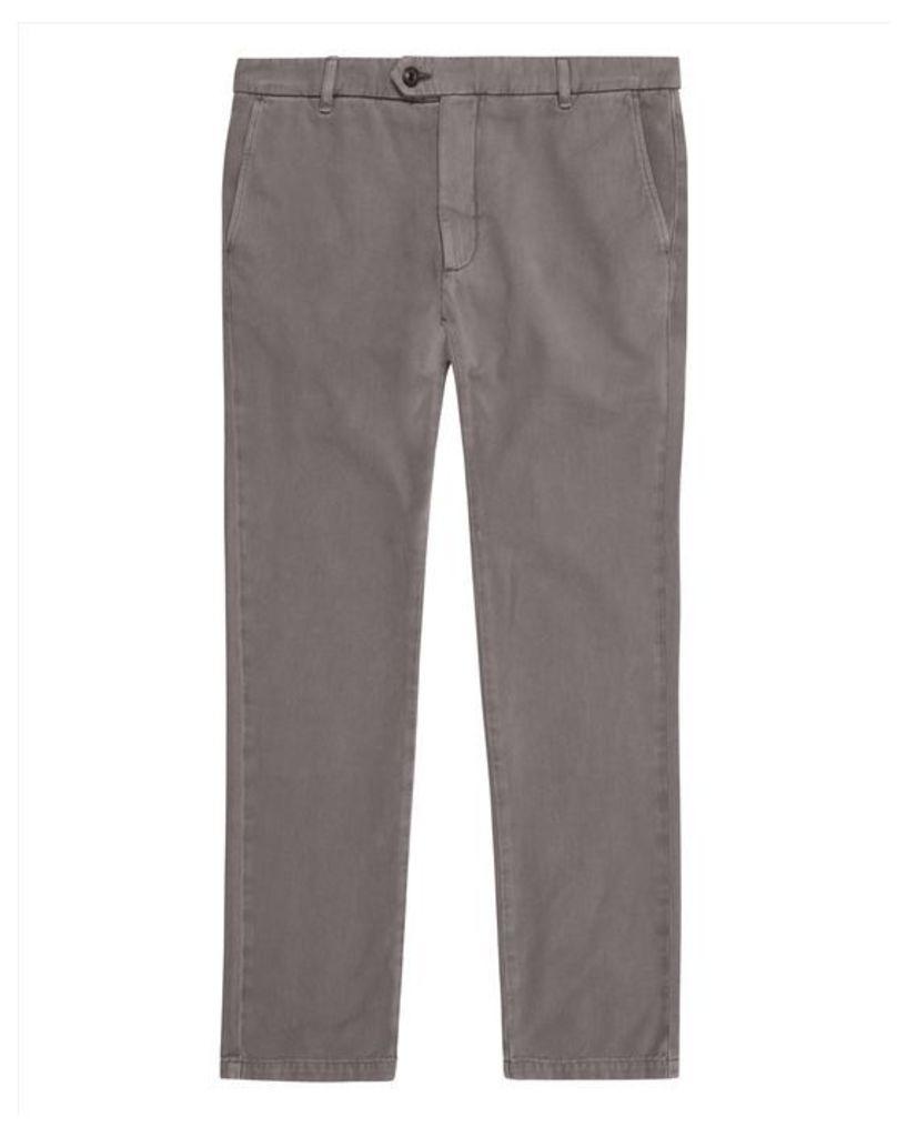 Garment-Dyed Slim Chinos