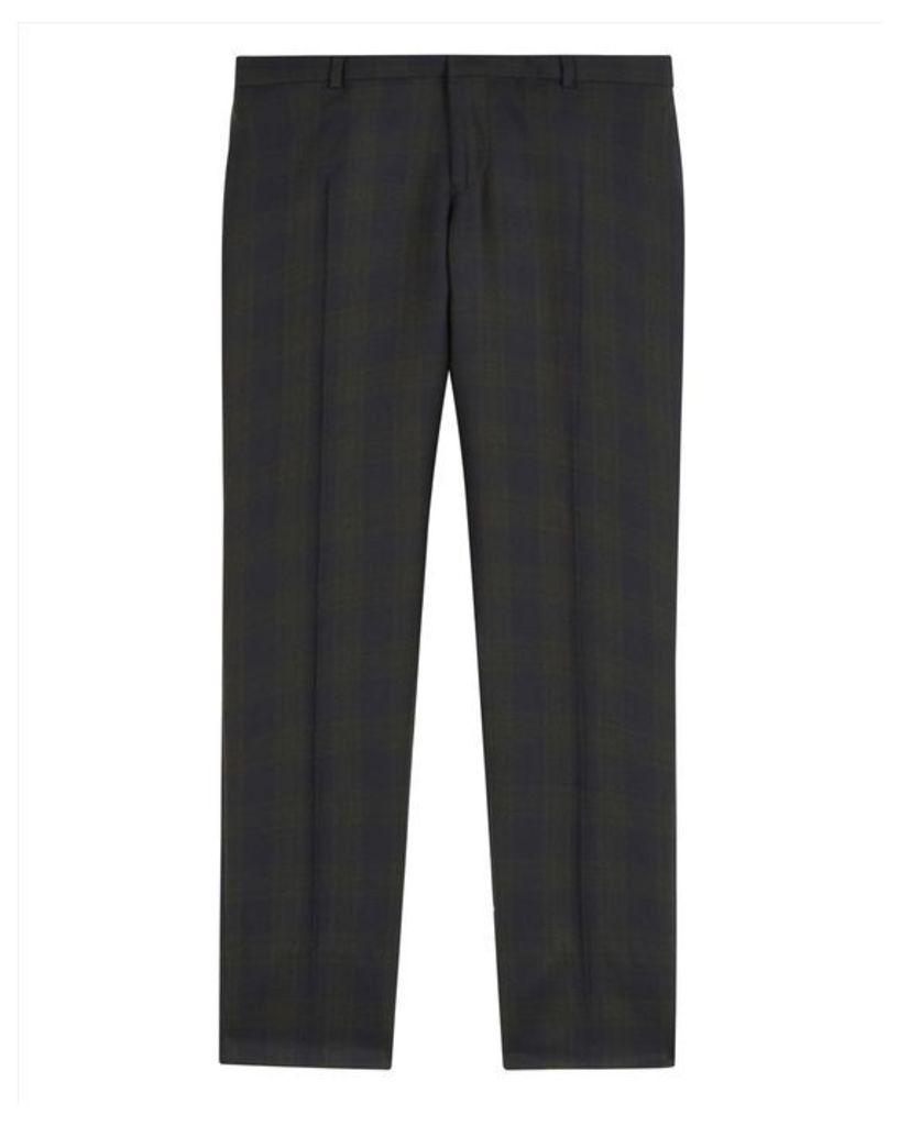 Wool Black Watch Slim Trousers