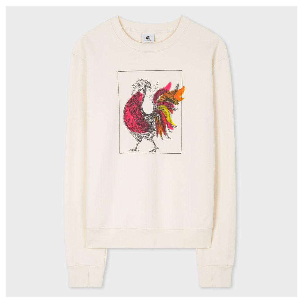 Women's Ecru 'Year Of The Rooster' Sweatshirt