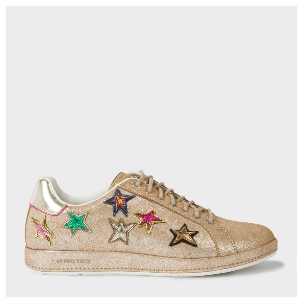 Women's Metallic Leather 'Lapin' Trainers With Star Appliqué