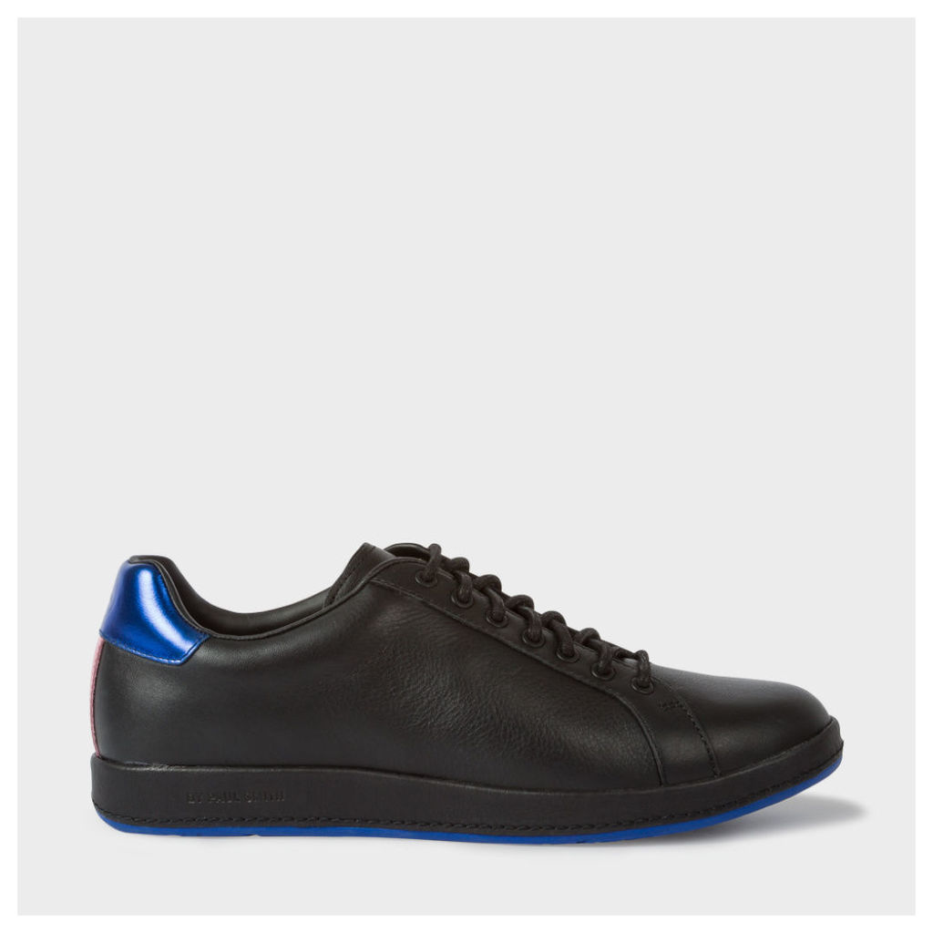 Women's Black Leather 'Lapin' Trainers With Metallic Trims