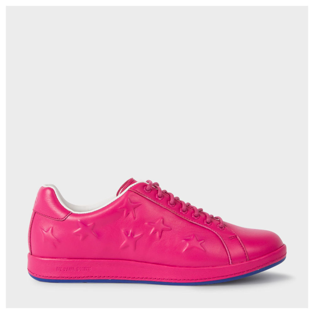 Women's Fuchsia Leather 'Lapin' Trainers With Star Emboss