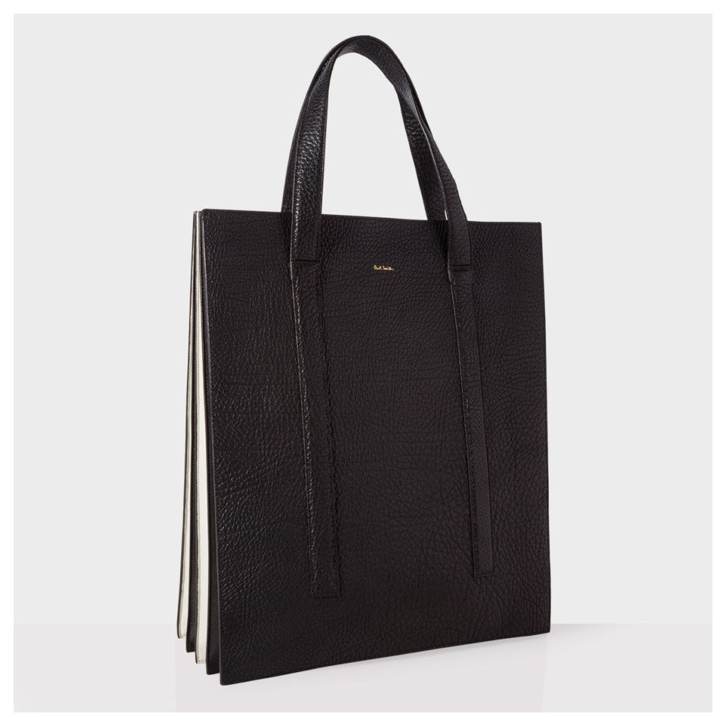 Black and White 'Concertina' Tote Bag