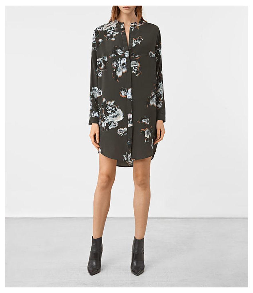 Helle Flora Silk Dress