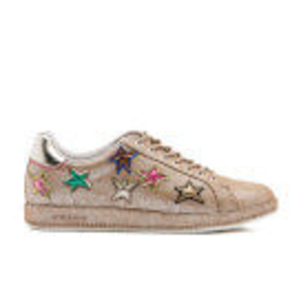 PS by Paul Smith Women's Lapin Metallic Star Print Trainers - Champagne Mono Lux - UK 5