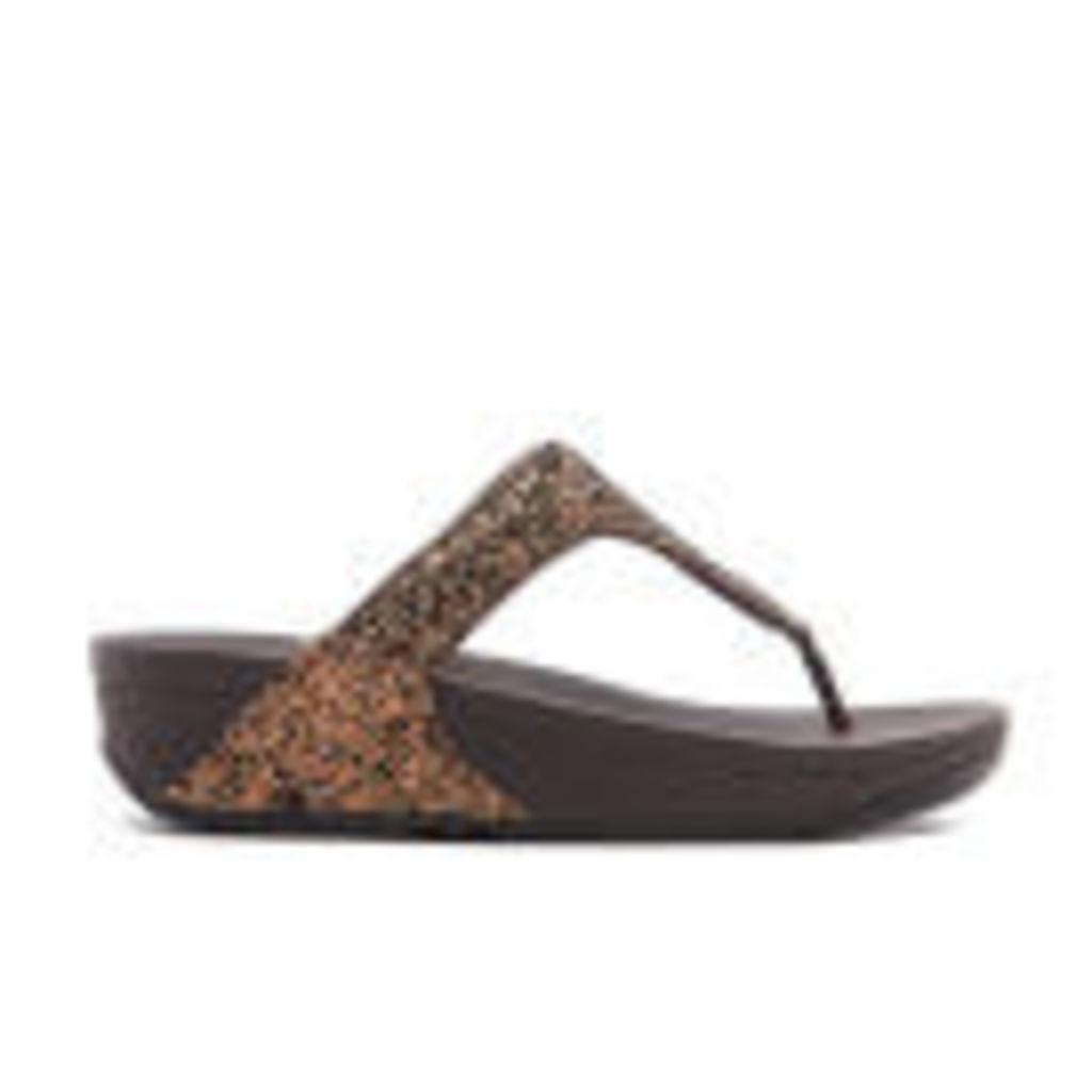 FitFlop Women's Glitterball Toe-Post Sandals - Bronze - UK 6