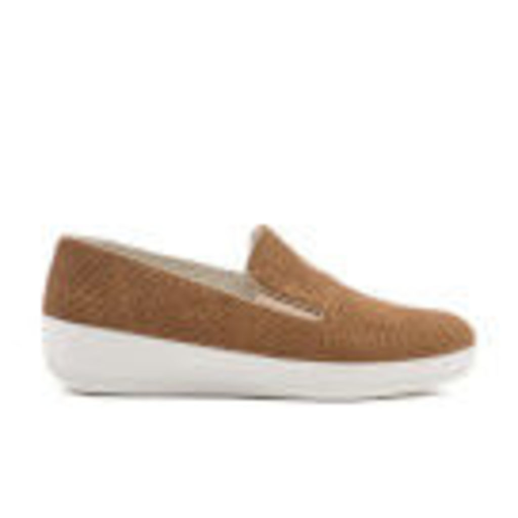 FitFlop Women's Superskate Perforated Suede Slip-On Trainers - Soft Brown - UK 7