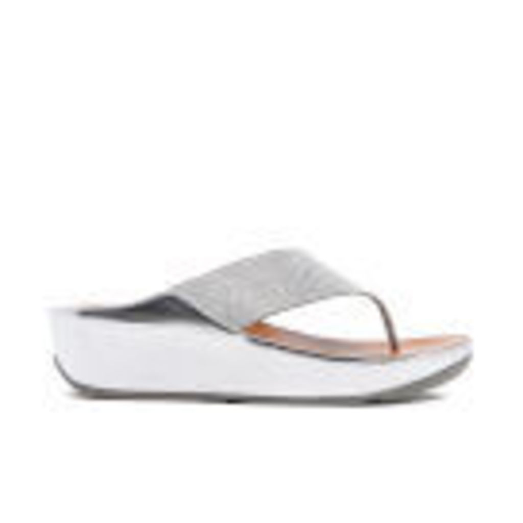 FitFlop Women's Crystall Toe-Post Sandals - Silver - UK 7