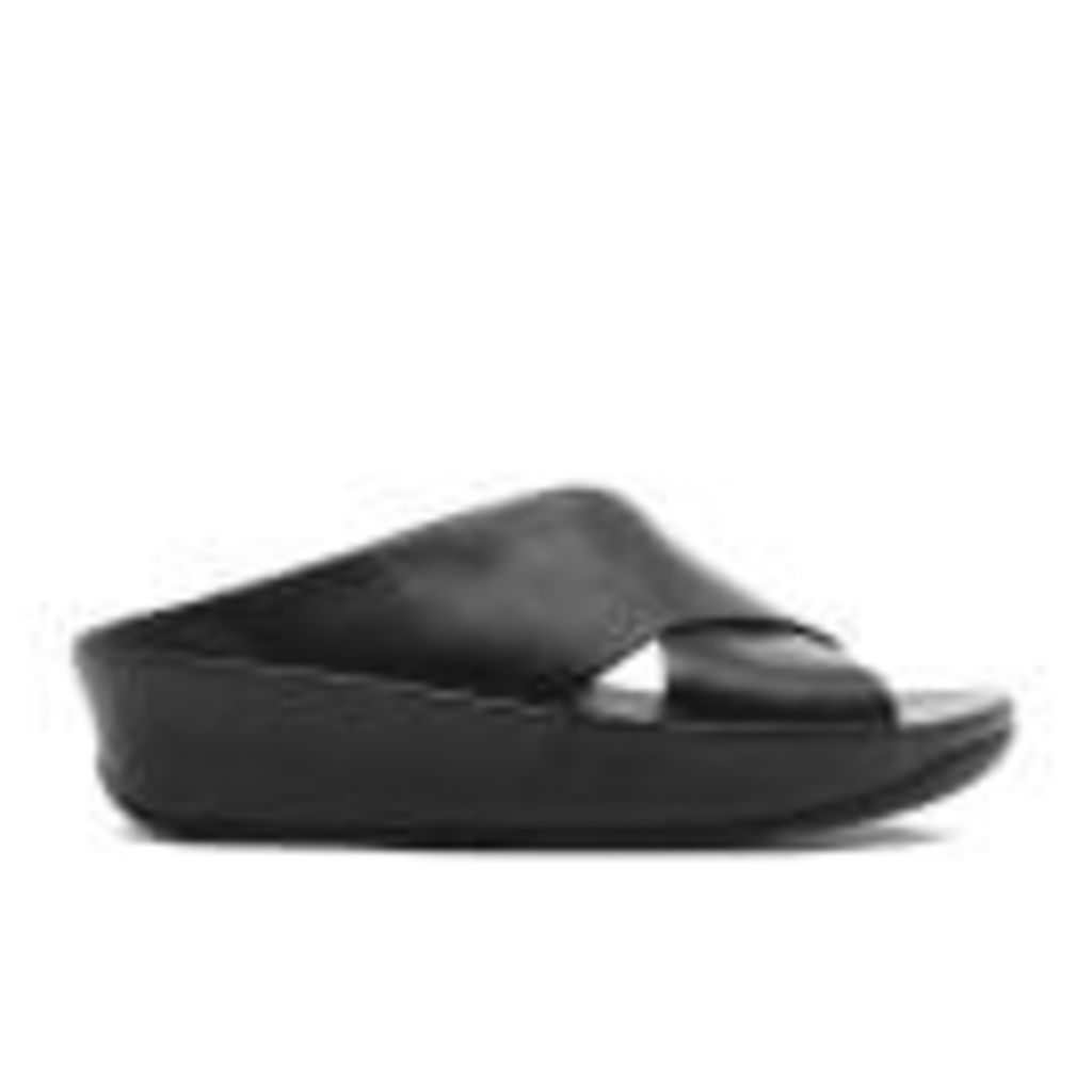 FitFlop Women's Kys Leather Slide Sandals - All Black - UK 5