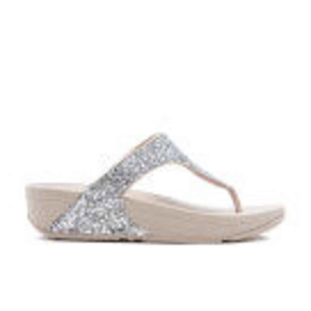 FitFlop Women's Glitterball Toe-Post Sandals - Silver - UK 3