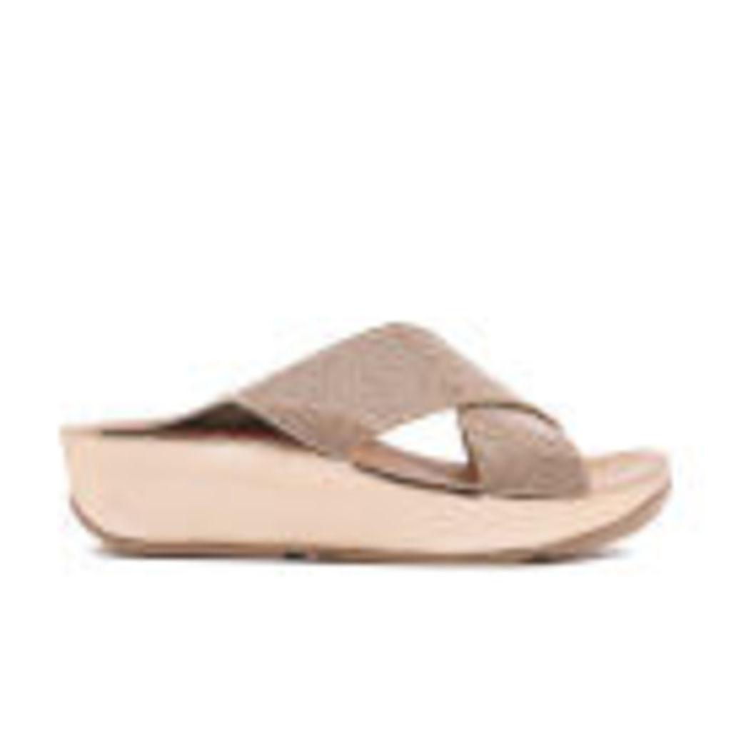 FitFlop Women's Crystall Slide Sandals - Rose Gold - UK 7