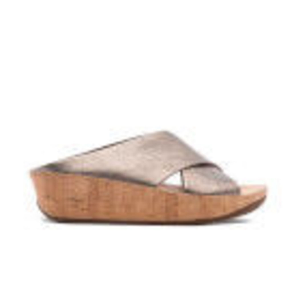 FitFlop Women's Kys Leather Slide Sandals - Bronze - UK 4