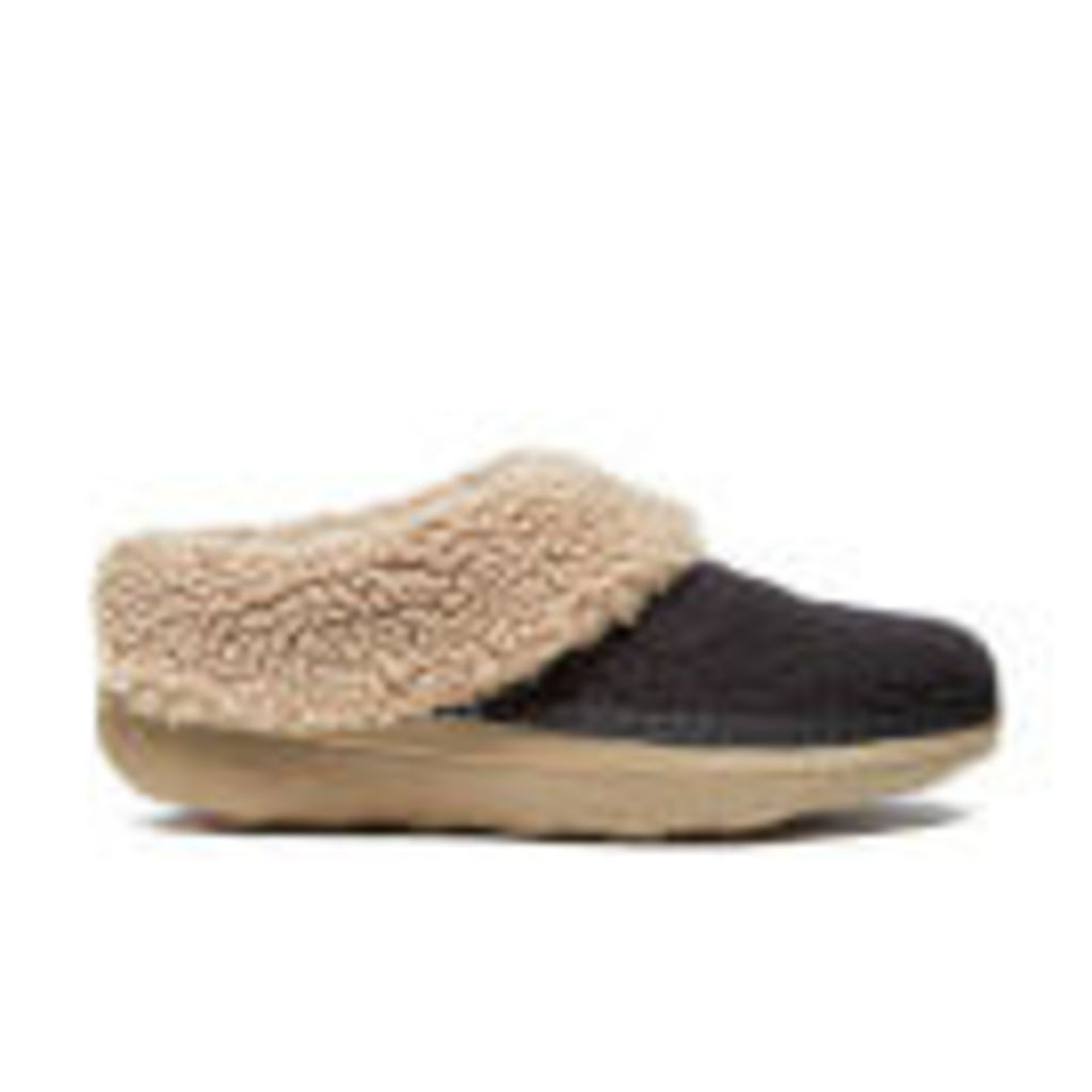 FitFlop Women's Loaff Quilted Slippers - Black - UK 4