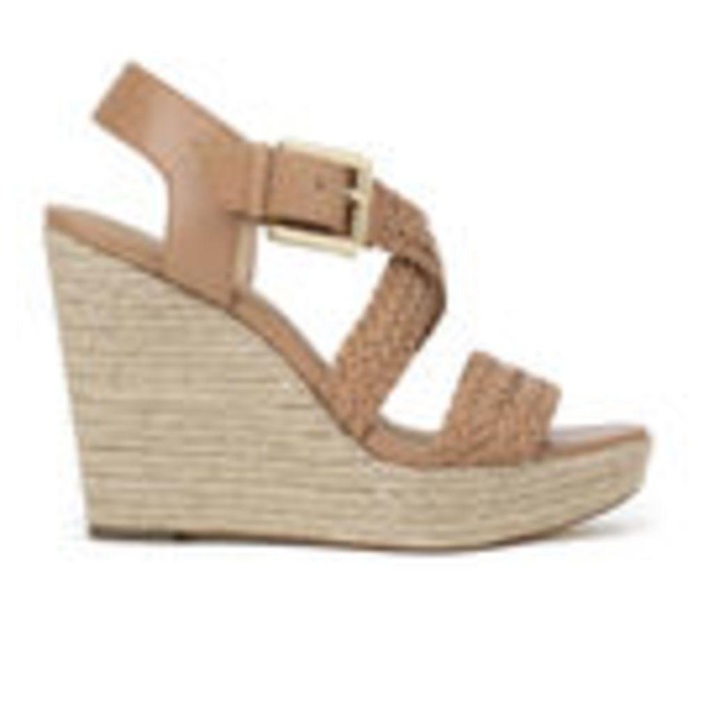 MICHAEL MICHAEL KORS Women's Giovanna Woven Wedge Sandals - Brown - US 9/UK 6