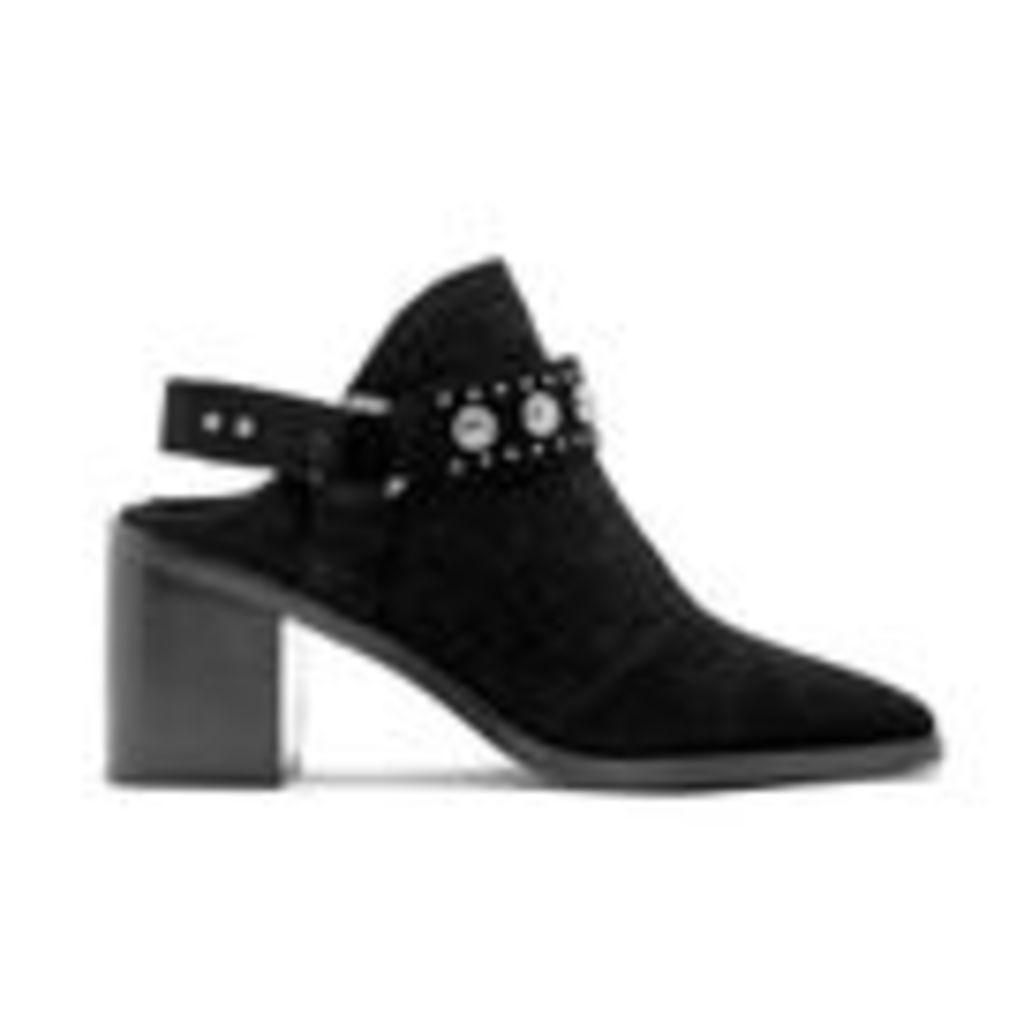 Senso Women's Hanna Suede Heeled Ankle Boots - Ebony - UK 4