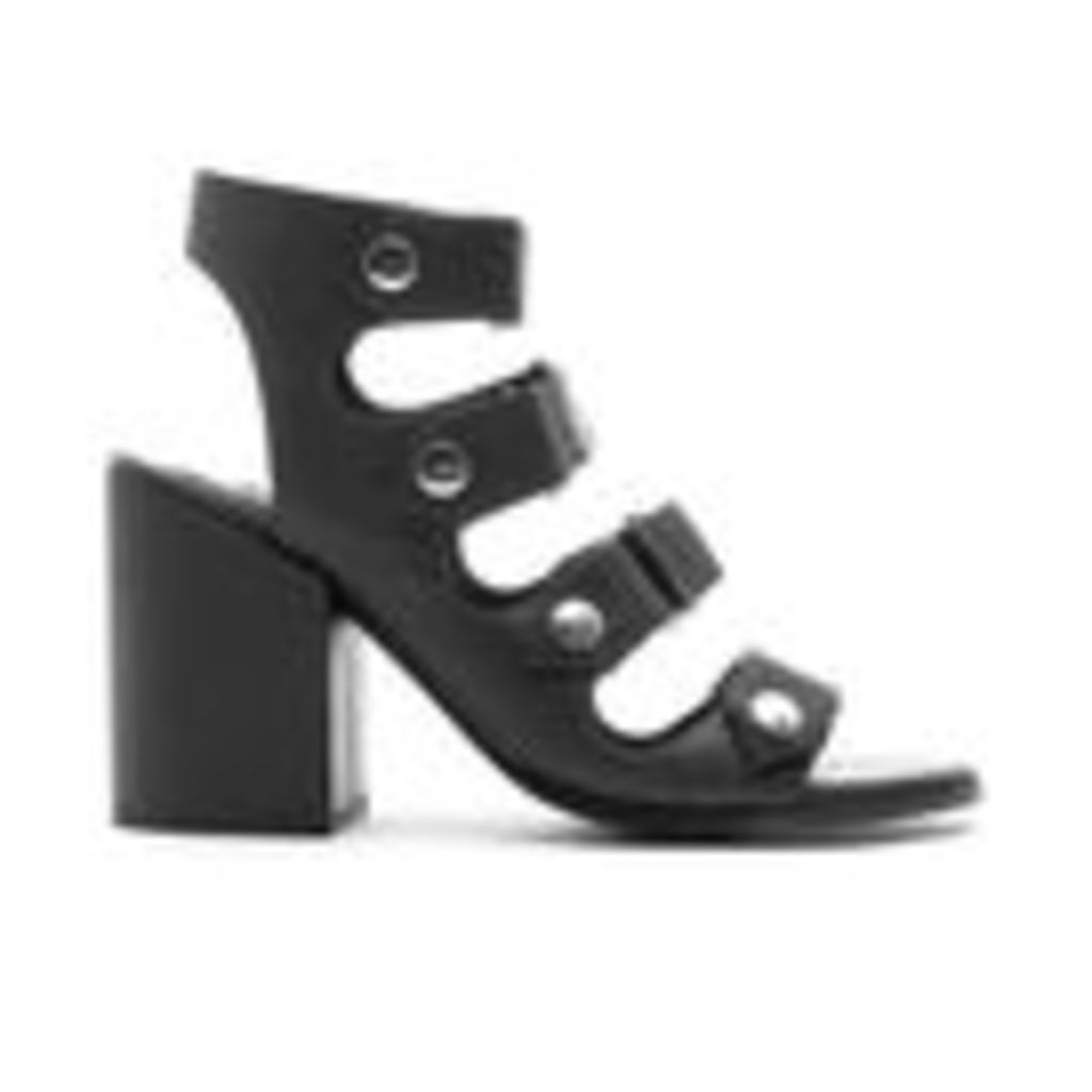 Senso Women's Stella Matt Leather Strappy Heeled Sandals - Ebony - UK 3