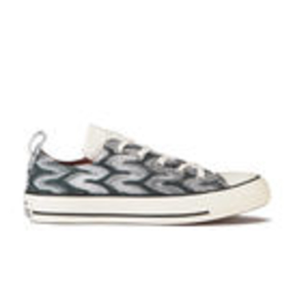 Converse x Missoni Women's Chuck Taylor All Star Ox Trainers - Black/Auburn - UK 3