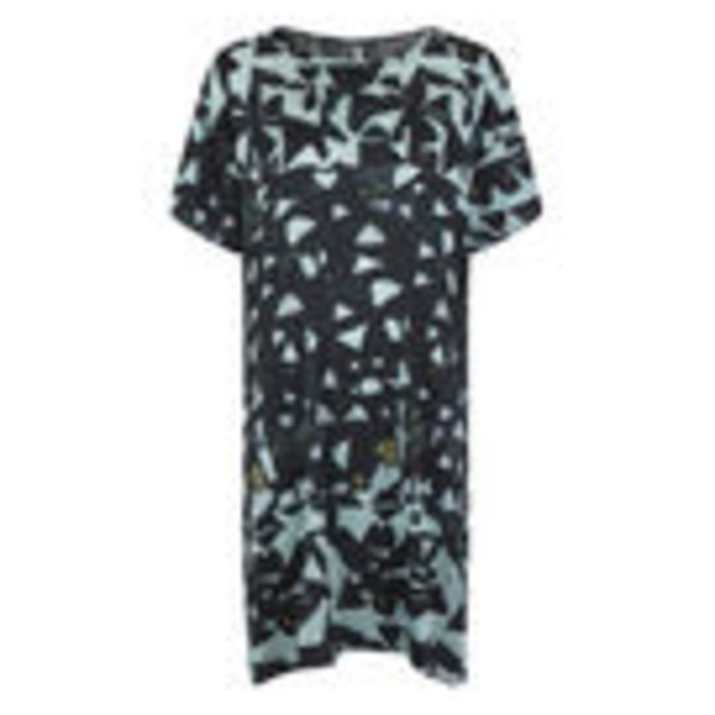 Munthe Women's Eye Silk Shape Print Dress - Dark - UK 8