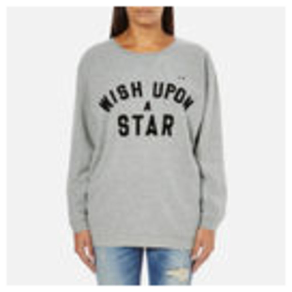 Maison Scotch Women's Wish Upon A Star Boxy Fit Sweatshirt - Grey - 2/UK 10
