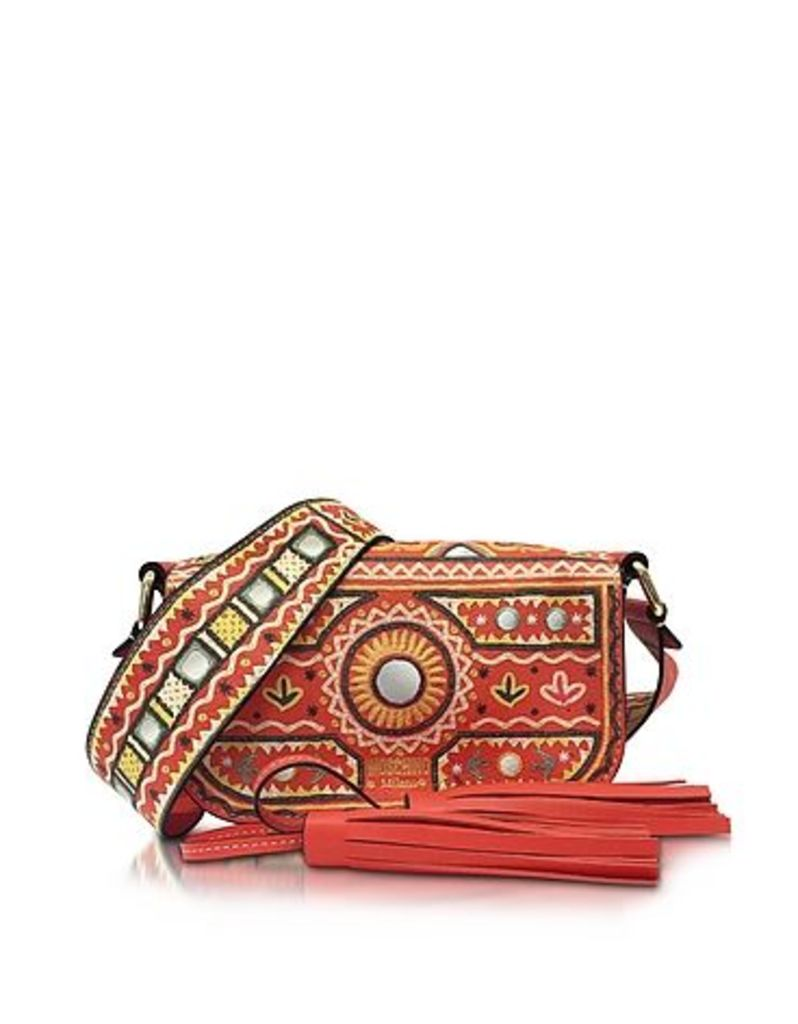 Moschino - Coral Red Crossbody Bag w/Tassels
