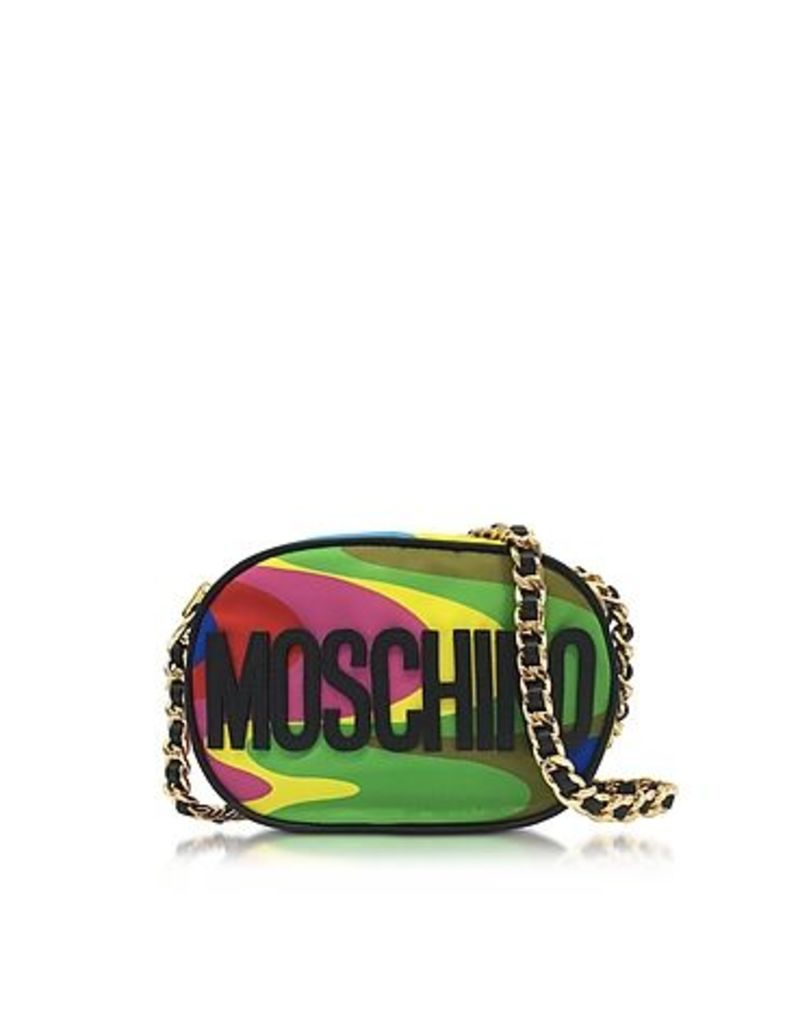 Moschino - Multicolor Print Nylon Crossbody Bag w/Logo