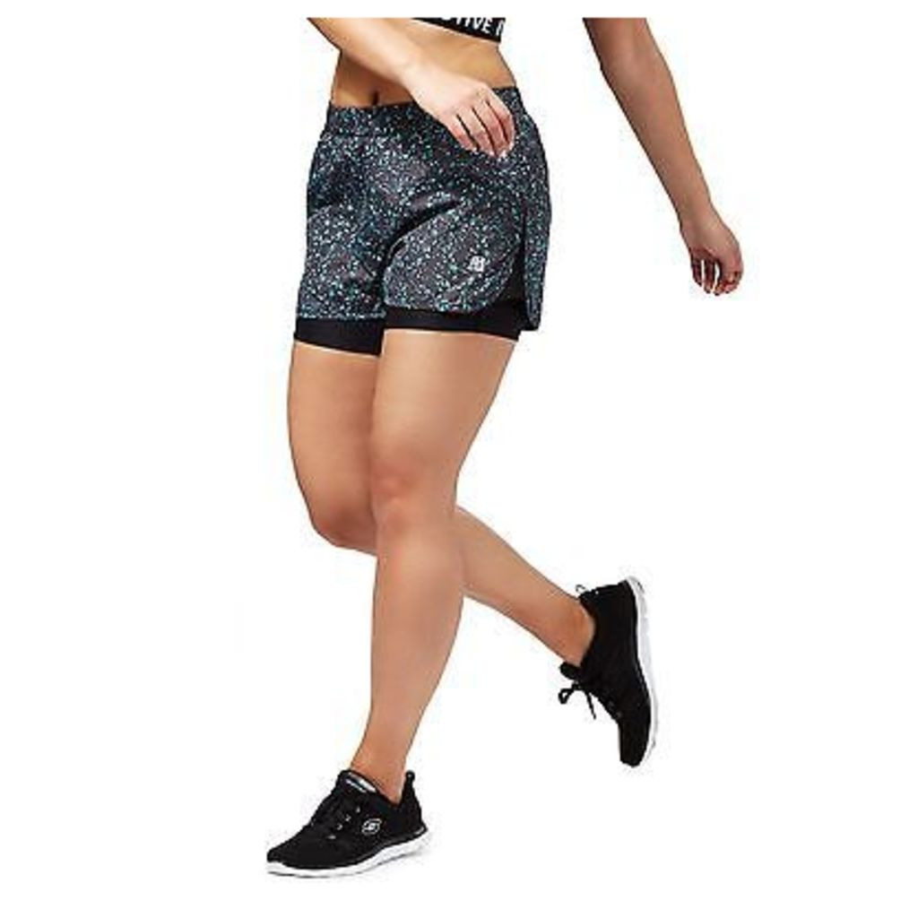 Red Herring Womens Black Speckled Print Gym Shorts From Debenhams