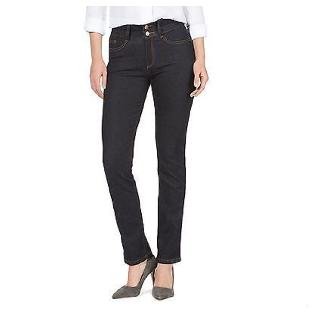 J By Jasper Conran Womens Blue High Waisted Straight Jeans From Debenhams