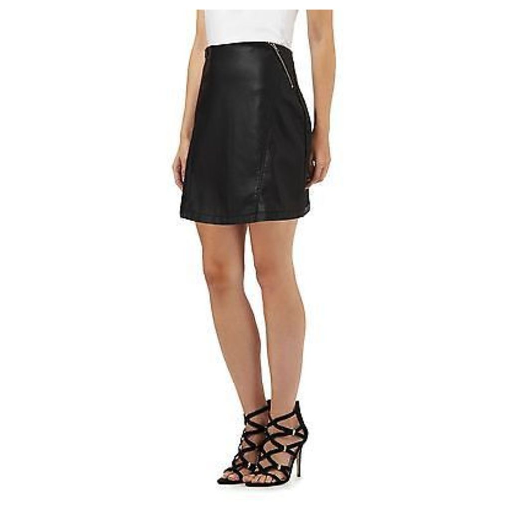 H! By Henry Holland Womens Black Zip Pocket Mini Skirt From Debenhams