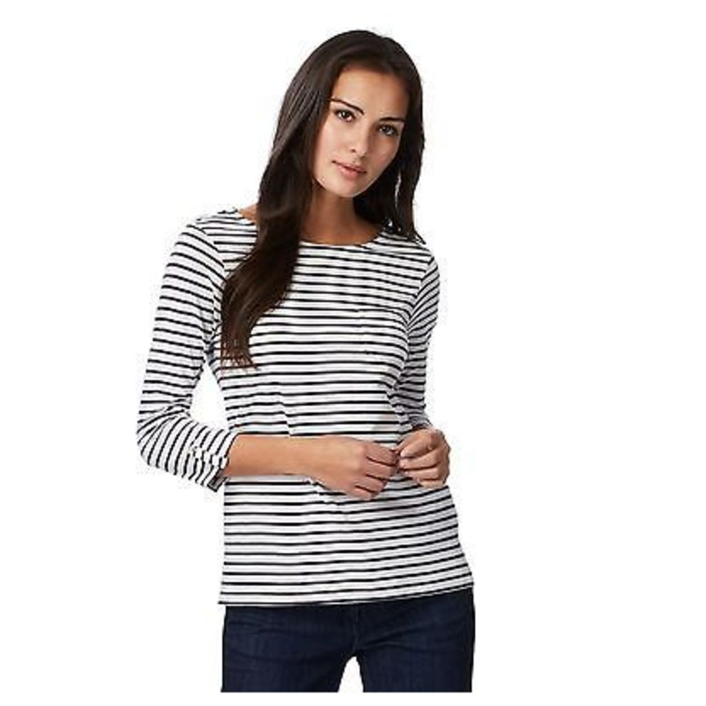 The Collection Womens Navy Striped Print T-Shirt From Debenhams