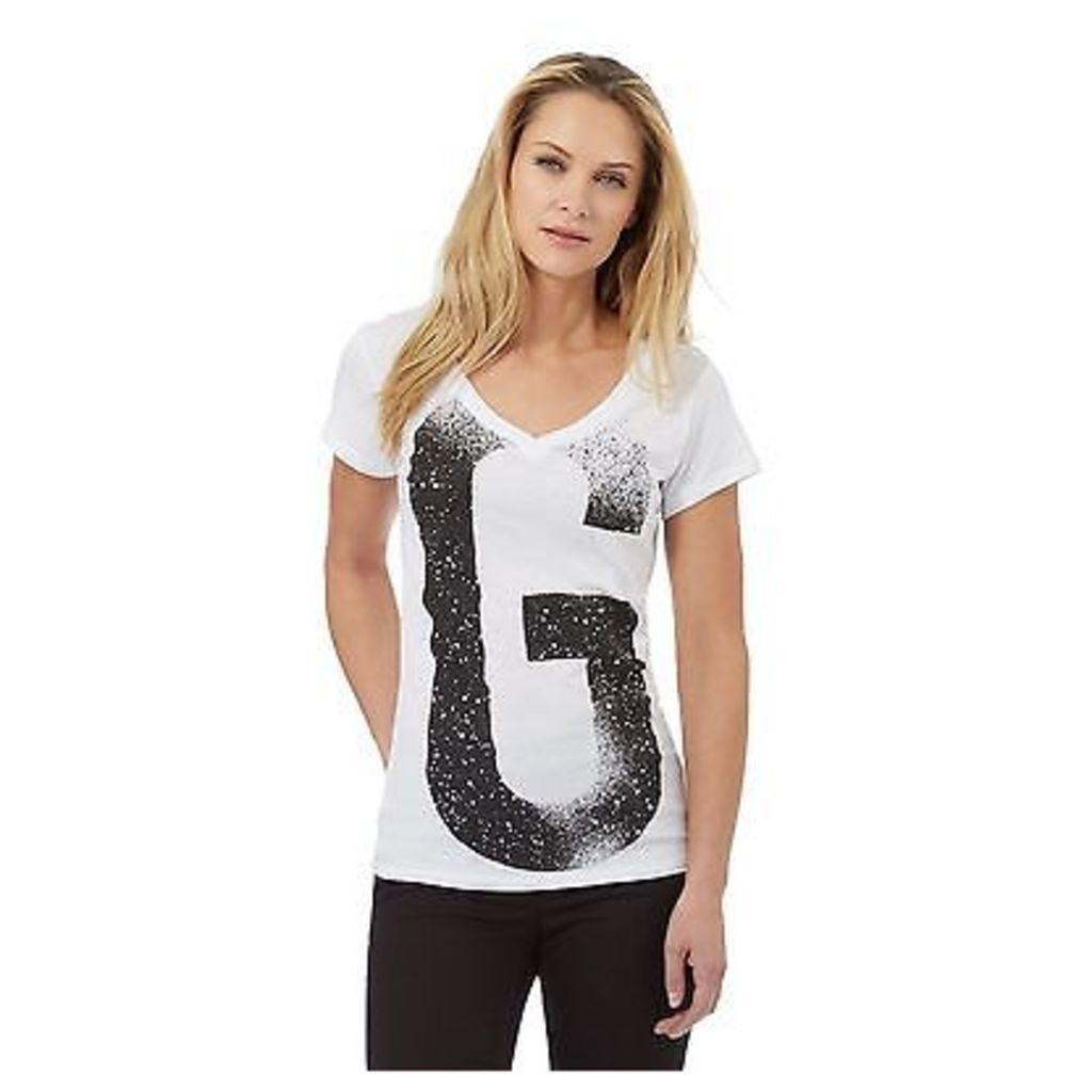 G-Star Raw Womens White 'G' Print T-Shirt From Debenhams