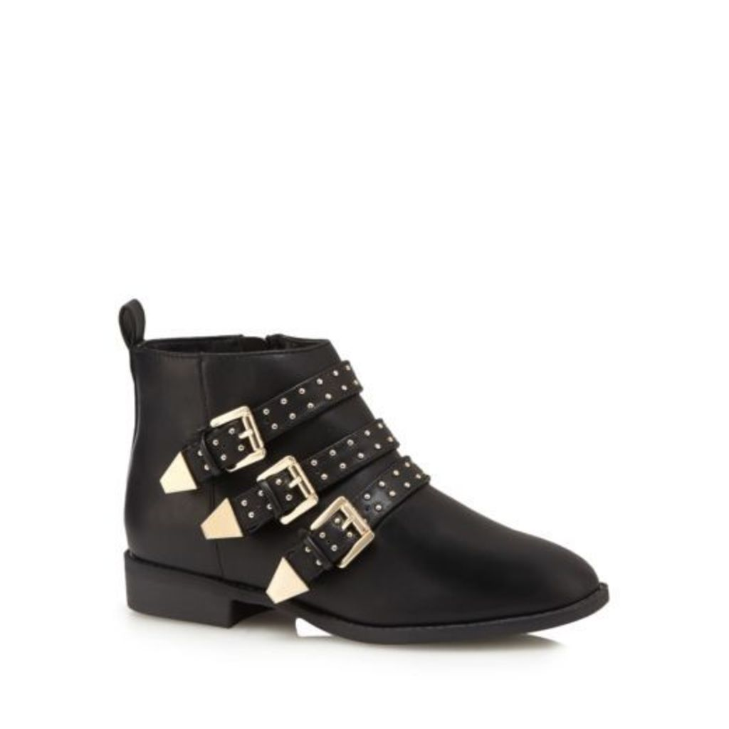 Faith Womens Black 'Brixton' Studded Ankle Boots From Debenhams