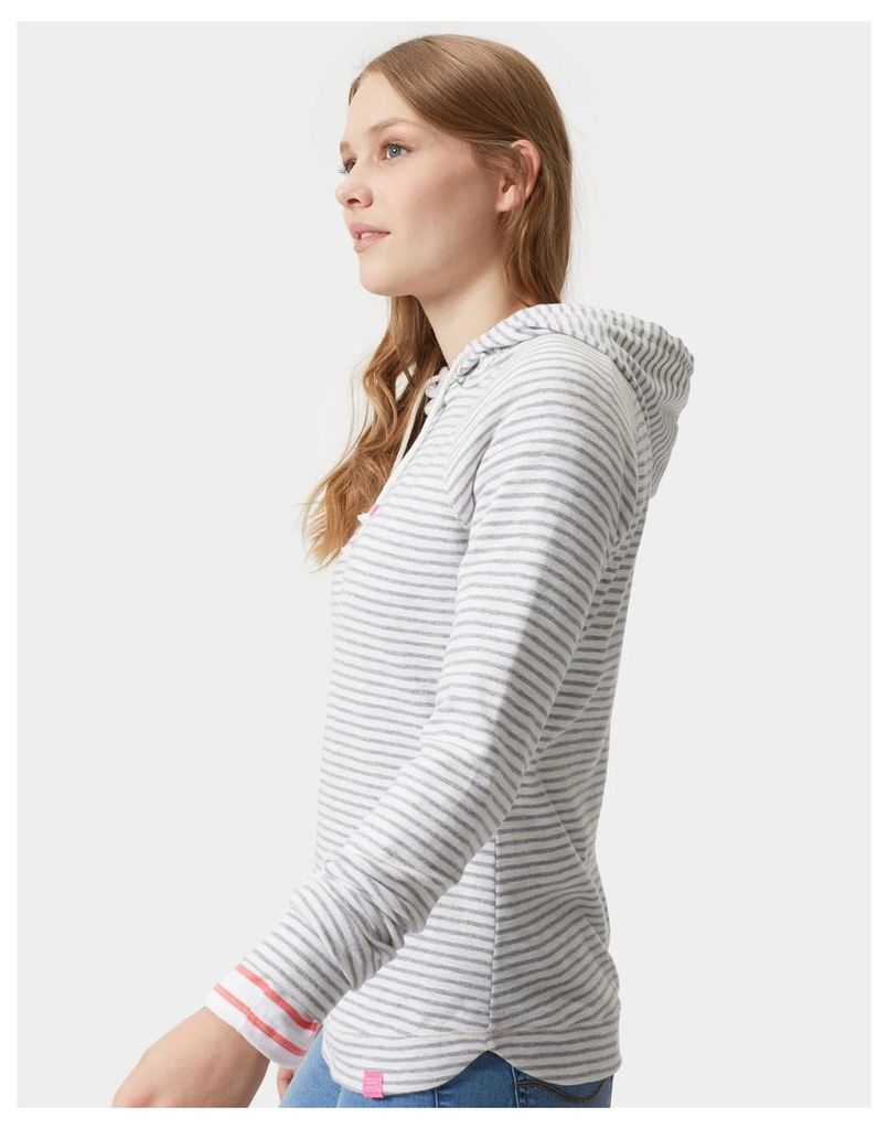 Grey Stripe Marlston Lightweight Hooded Sweatshirt  Size 20   Joules UK