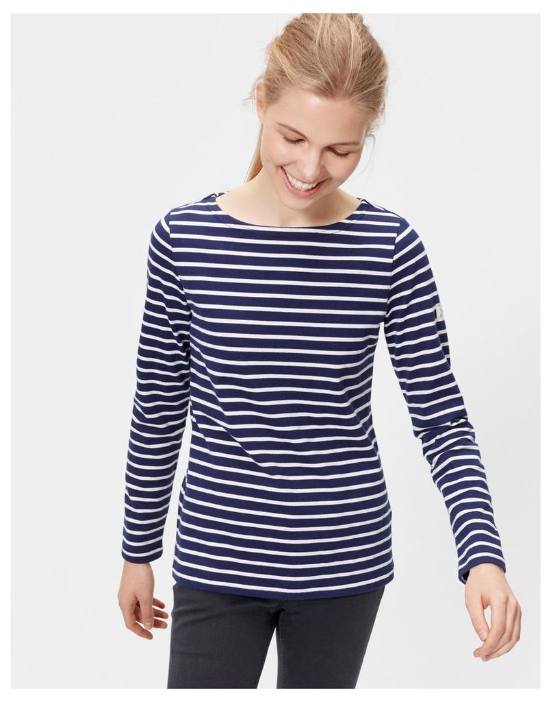 Hope Stripe French Navy Harbour Jersey Top  Size 20   Joules UK