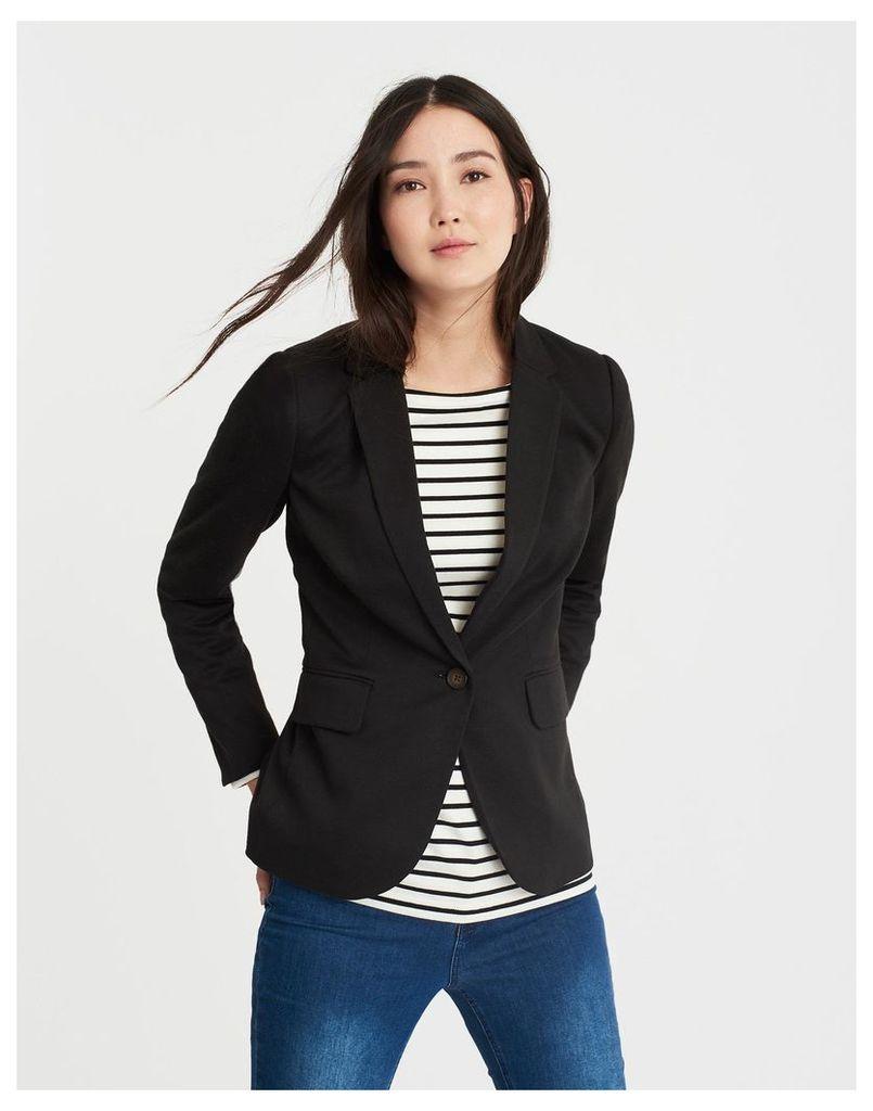 Black Mollie Jersey Blazer  Size 20   Joules UK