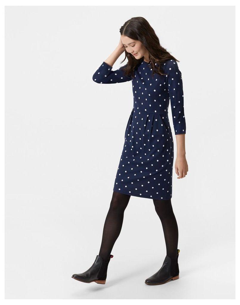 Navy Spot Beth Dress  Size 14   Joules UK