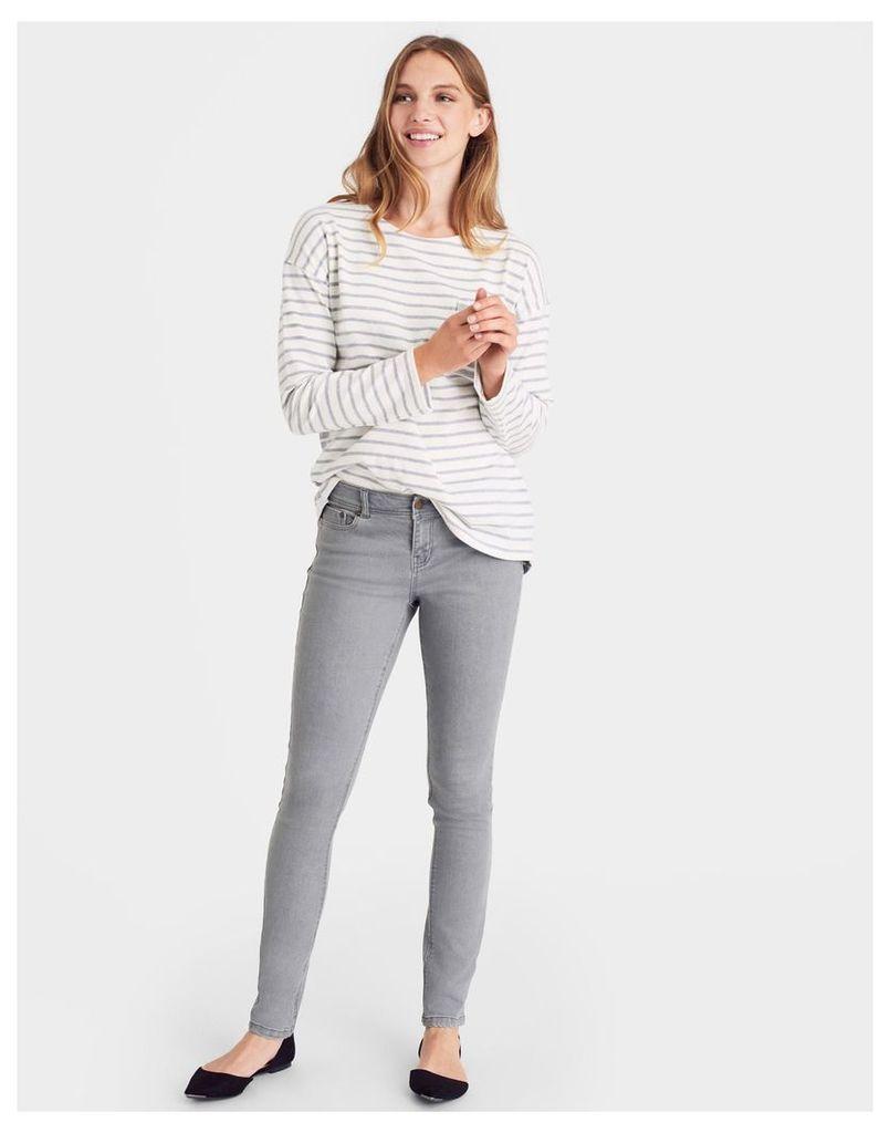 Grey Wash Monroe Light Grey Skinny Jeans  Size 14   Joules UK
