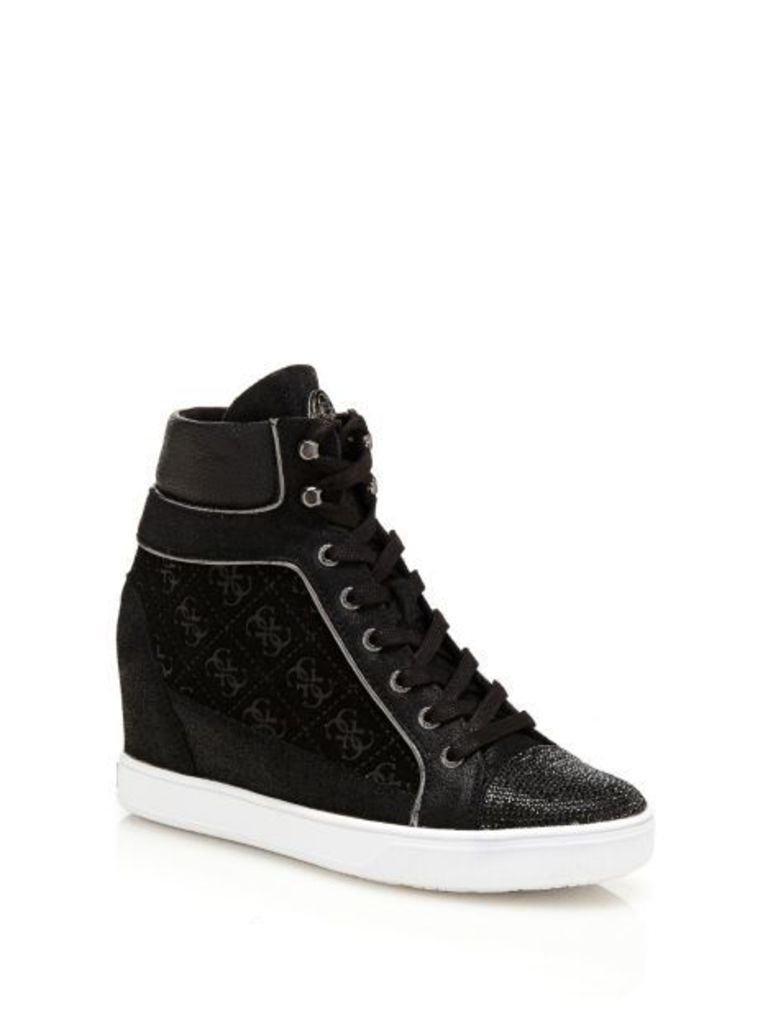 Guess Furr Wedge Sneaker With Inserts