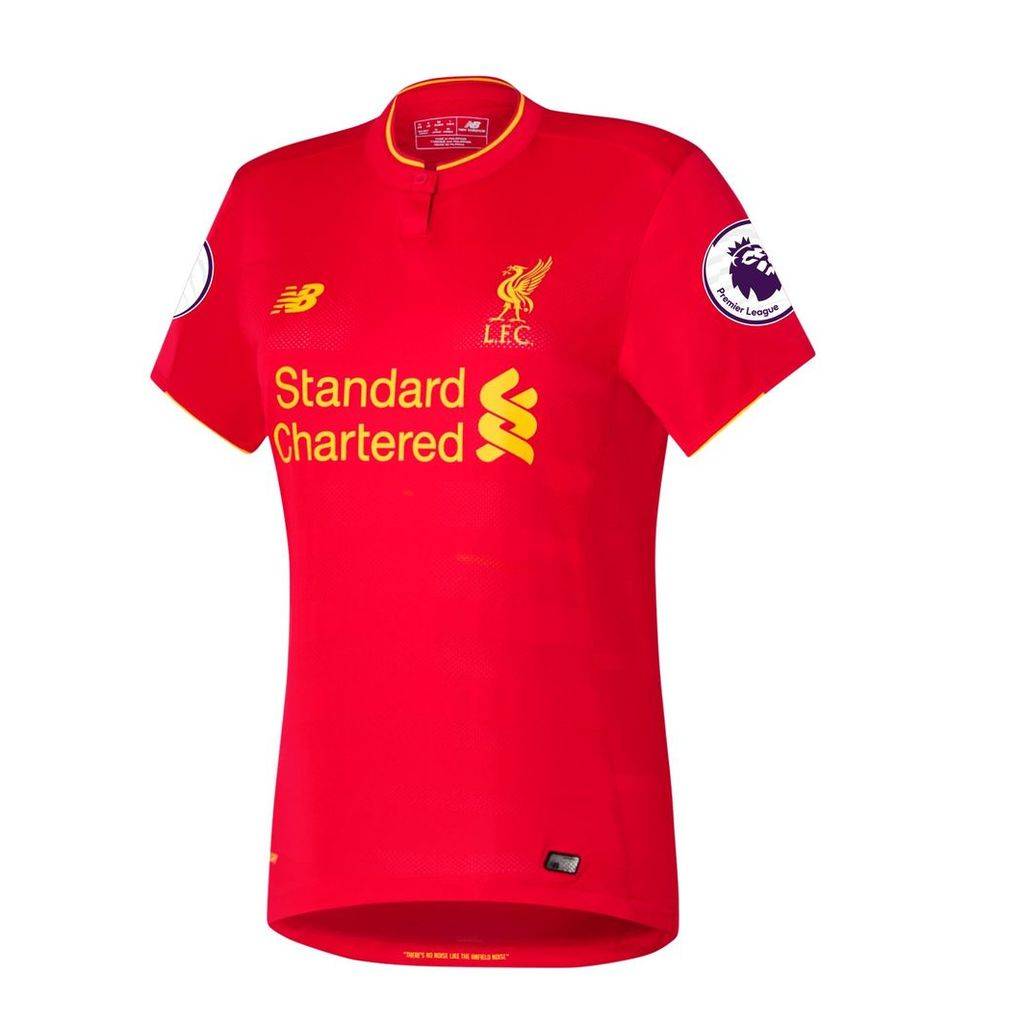 New Balance LFC Womens Firmino Home EPL Patch SS Jersey Women's 2016/17 Players' Home Kits WT63000111Y