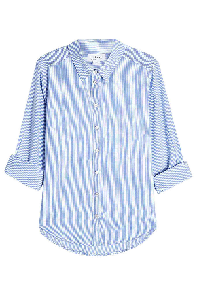 Velvet Striped Cotton Shirt