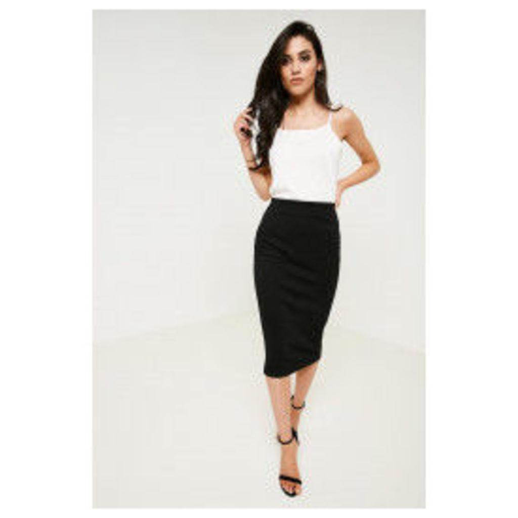 Brand Attic Ribbed High Waisted Skirt