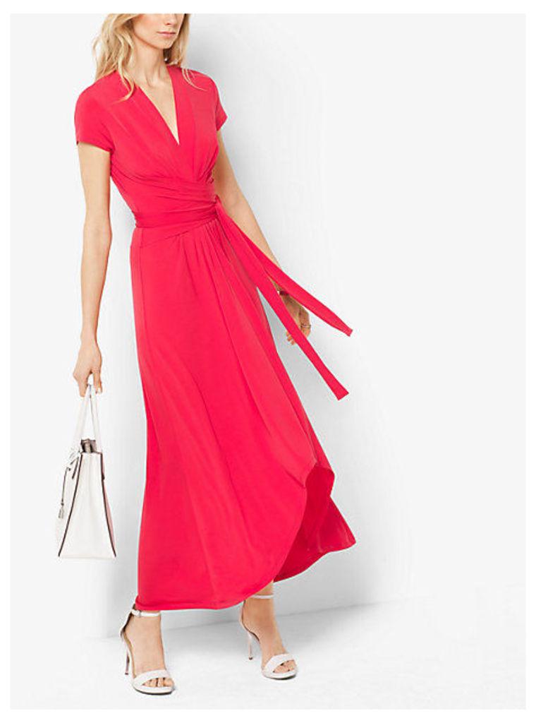 Cap-Sleeve Wrap Dress