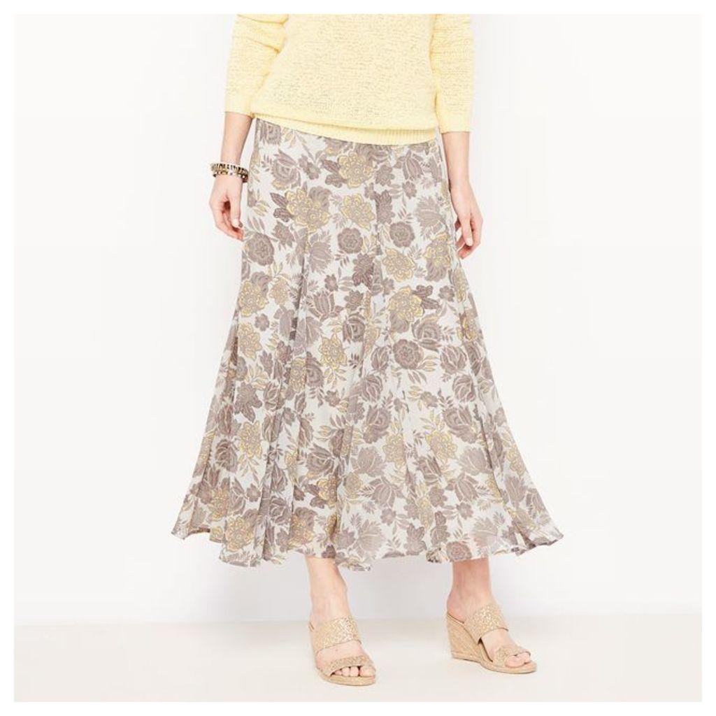 Printed Crinkle Voile Skirt