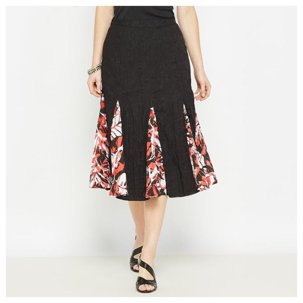Skirt with Printed Panels