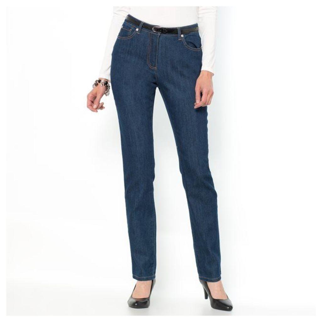 Stretch Denim Straight Jeans