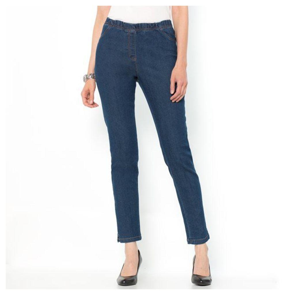 Tapered Stretch Denim Jeans