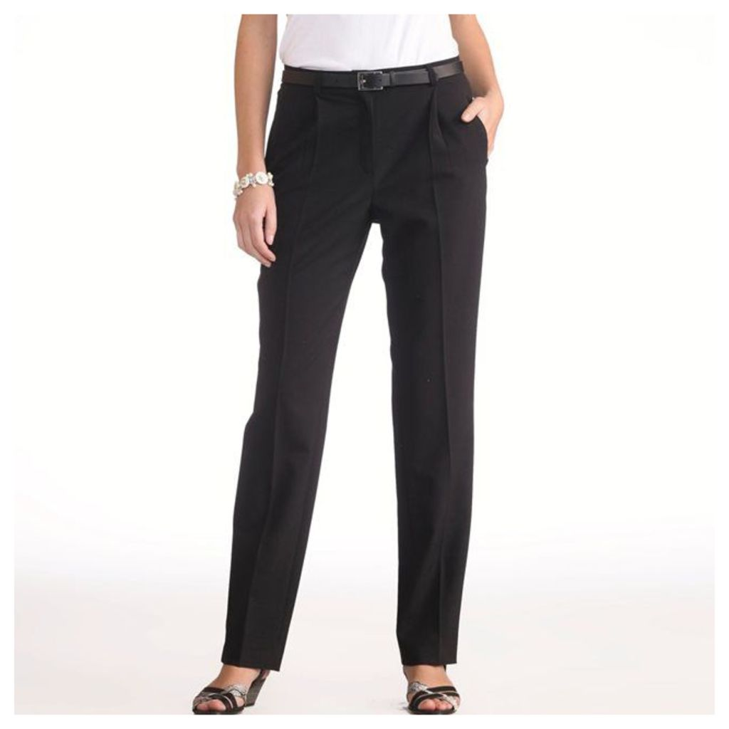 Two-Way Stretch Pleat Front Trousers, Inside Leg 30.5.